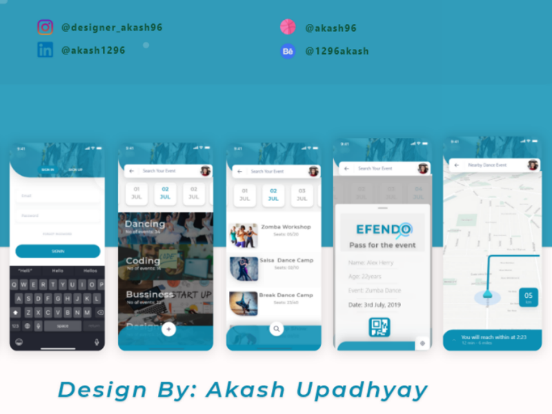 EFENDO: finding events around you. website uxdesign ux user interface user experience uidesign ui illustrator illustration hiring graphicsdesign dribbble design colors branding product behance appdesign app animation