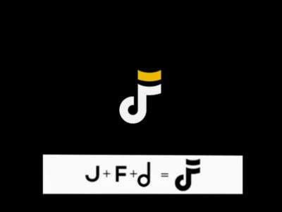 Music note monogram logo culture pop mark logo monogram note music