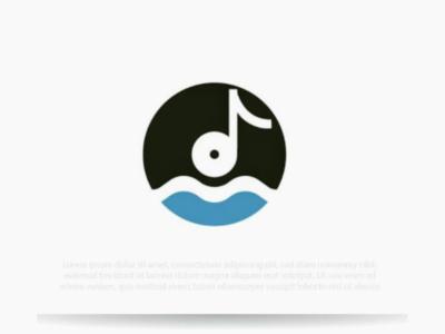 Vinyl record logo vinyl graphic logo music note