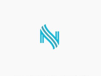 Letter N monogram logo letter design monogram logo line