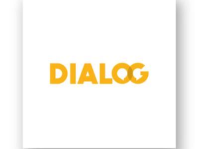 Communication logo dialog yellow balloon speech communication