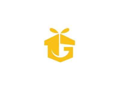 Gift logo mark digital delivery box monogram gift yellow
