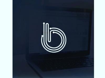 Monogram B dynamic letter linear logo monogram digital