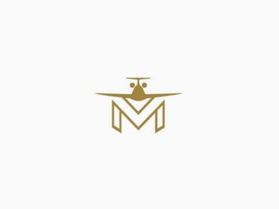 Monogram logo avion design flying airplane letter monogram