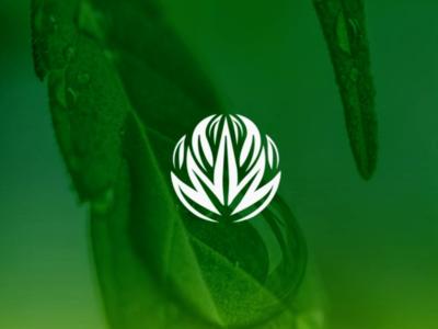 Canna logo mark pharma medical design circle greenark logo cannabis