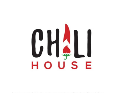 Red hot chili house logo fun design logo sauce chili hot red