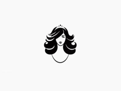 She's a Lady simplicity black fashion beauty princess lady illustration design logo