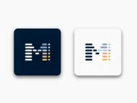 Letter 'M' monogram logo