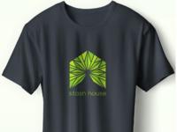 cannabis leaf in the house shape