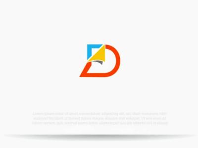 Monogram D d monogram baloon speech logo document
