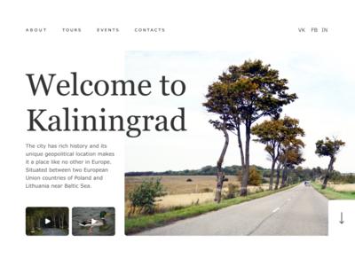 Landing page. Tourism in Russia (Kaliningrad)