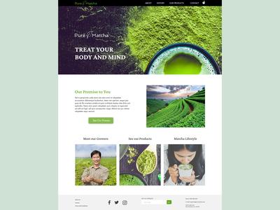 Pure Matcha Landing Page