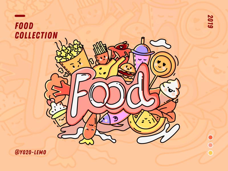 Food illustration design