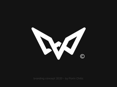 Eagle logomark illustration typography monogram creative type logotype visualidentity logoinspire blackwhite logomarks logodesign symbol branding and identity logomark trademark branding