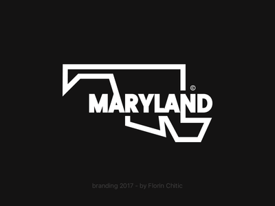 Maryland USA State Branding state usa maryland lineart typography logo monogram brand trademark concept creative branding design
