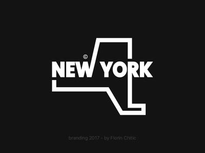New York USA State Branding state usa new york lineart typography logo monogram brand trademark concept creative branding design