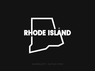 Rhode Island USA State Branding rhode island state usa lineart typography logo monogram brand trademark concept creative branding design