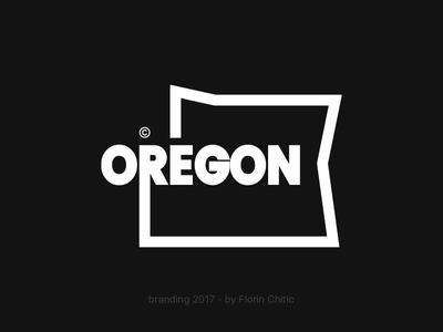 Oregon USA State Branding usa state oregon lineart typography logo monogram brand trademark concept creative branding design