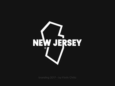 New Jersey USA State Branding state usa new jersey graphic lineart typography logo monogram brand trademark concept creative branding design