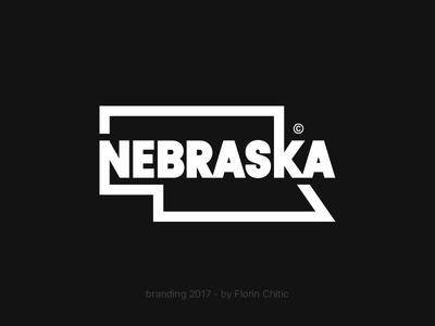 Nebraska USA State Branding nebraska state usa illustration logo typography monogram brand trademark concept creative branding design