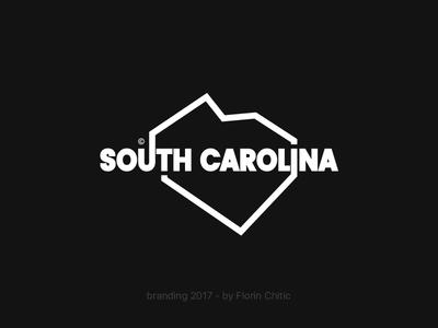 South Carolina USA State Branding typography logo brand monogram trademark concept creative branding design usa state south carolina