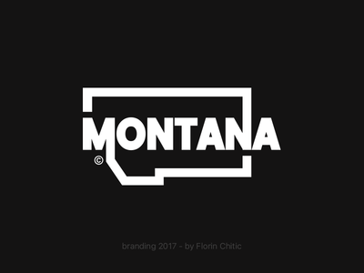 Montana USA State Branding typography logo monogram brand trademark concept creative branding design usa state montana