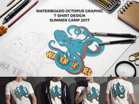 Waterboard Octopus T-shirt Concept