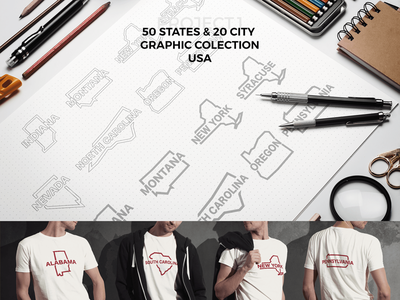 State And City usa colection print dtp cloathing brand graphics city state