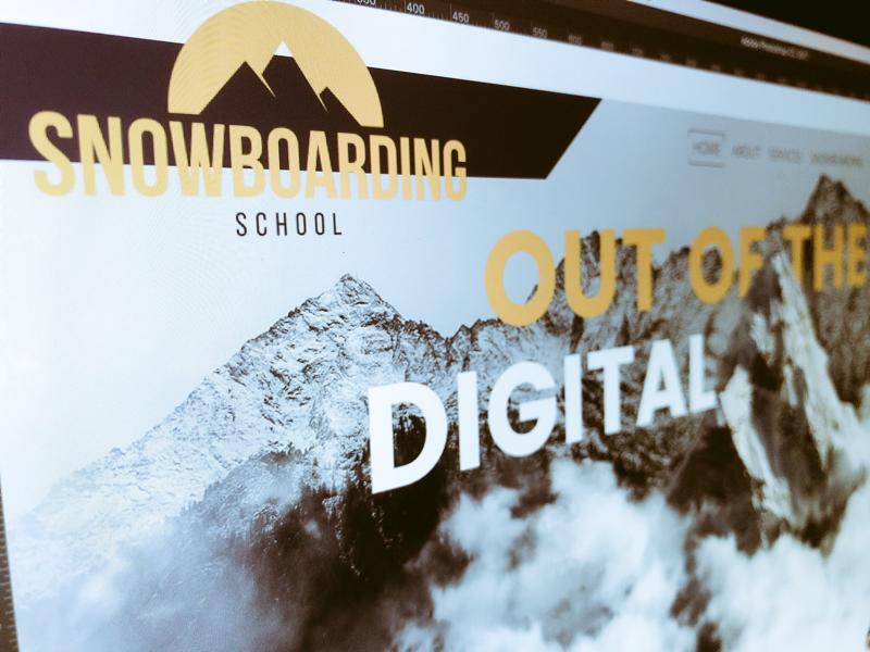 Snowboarding School web concept seo advertising onlinemarketing typography webdevelopment logo ui ux website branding webdesign graphicdesign