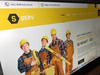 Serv Plumbing Agency web concept