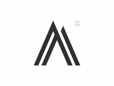 aa monogram exploration aamonogram brand trademark lineart typography monogram logo design creative concept branding