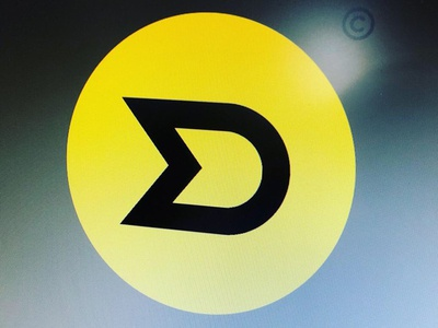 MD monogram exploration #1 black rally race flag yellow typo dm monogram md art concept branding trademark