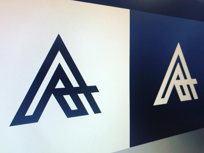 AA monogram concept exploration design graphic blue black art unique concept monogram logo brand trademark