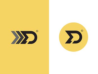 MD Monogram Concept #1 colordesign blackdesign yellowdesign md mdmonogram graphic concept monogram unique speed creative trademark fast rallydriver brand design