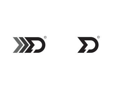 MD Monogram Concept #2 colordesign blackdesign yellowdesign md mdmonogram graphic concept monogram unique speed creative trademark fast rallydriver brand design