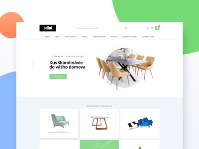 Belini furniture slovakia furniture store clean minimalist ecommerce web design ux ui