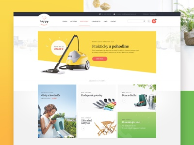 Happy household slovakia home homepage ecommerce web ux ui design
