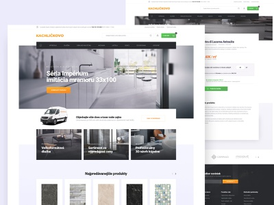 Kachlickovo redesign slovakia tiles product page homepage ecommerce web ux ui design