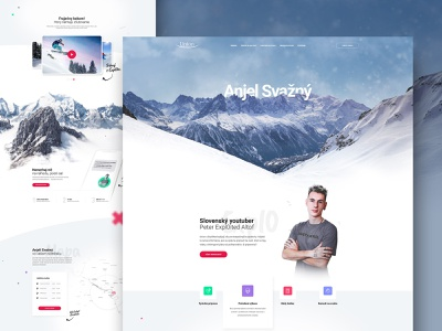 Union poistovna - Anjel svazny slovakia winter layout landing webdesign web ux ui design