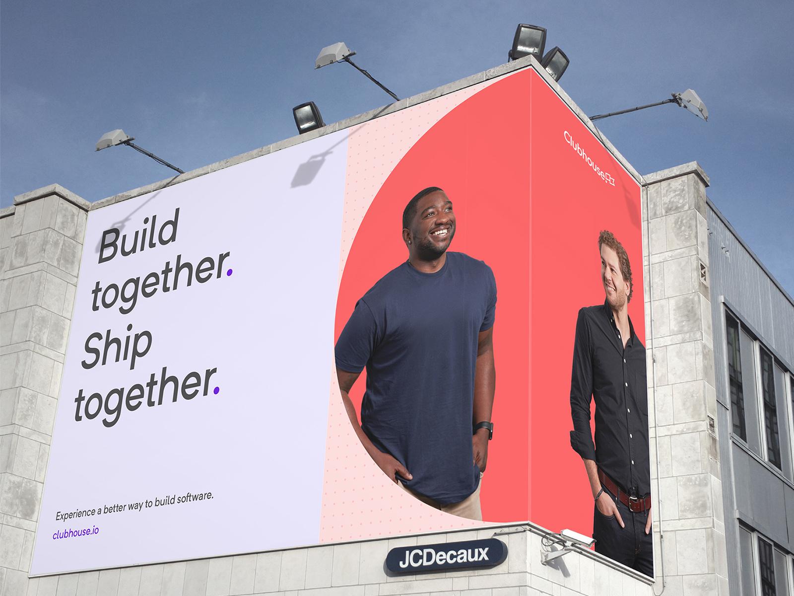 Clubhouse Brand Identity billboard vector photography tech design saas typography logo branding
