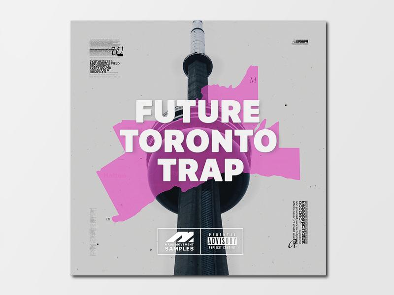 Design artwork to music samples. Future Toronto Trap.