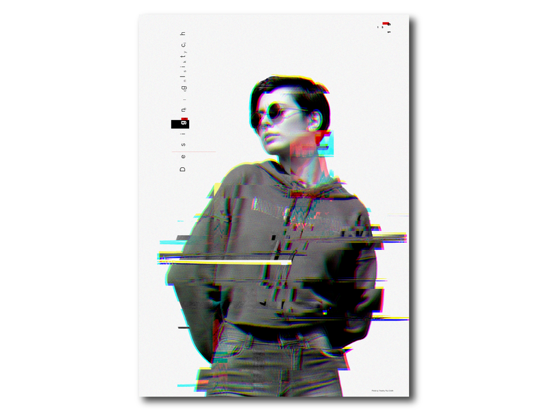 Design glirch brand agency style guide bright photo art cmyk rgb logo minimlist dispatch solonskyi icon ux typography disabilities poster gird glitch distort displace vector ui