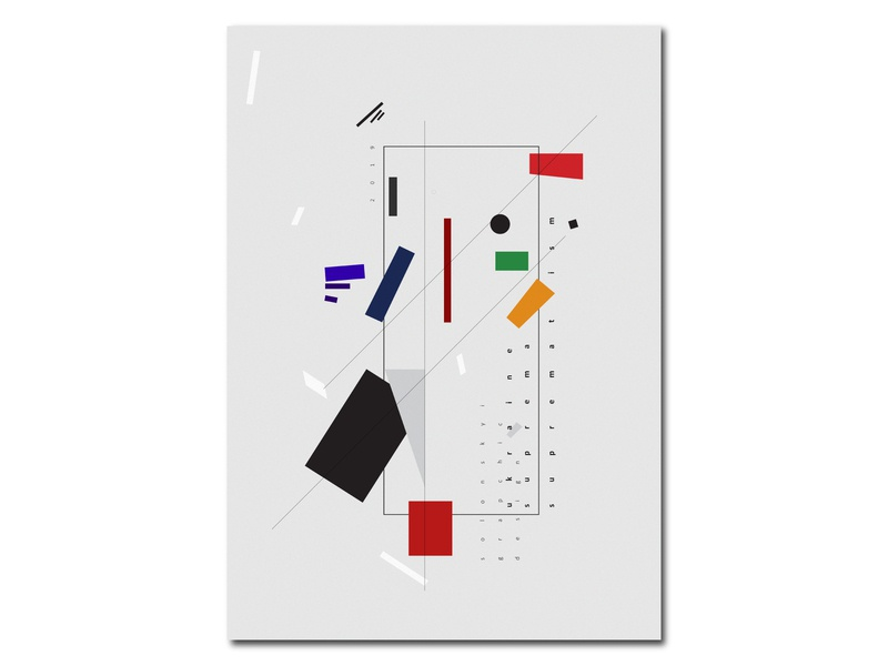 Supremus Poster minimlist minimal graphic design brand logo web poster app icon art  entertainment art board art center art book ux vector ui avantgarde design solonskyi suprematism supremus