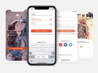 Registration process - mobile app