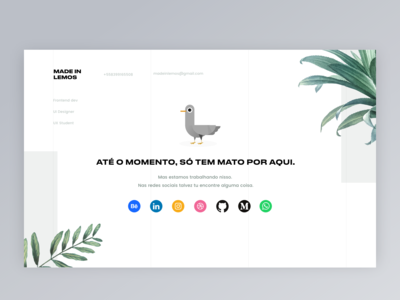 Personal Landing Page - Welcome section