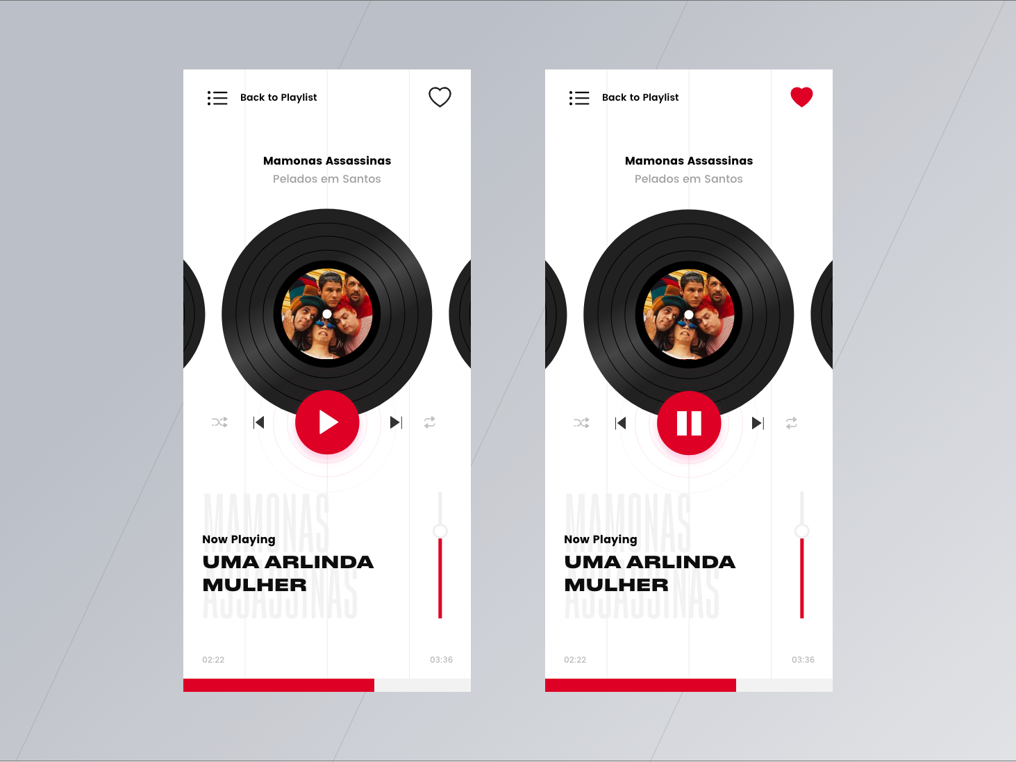 Weekly Ui Challenge - #001 Music Player ux mobile app interface music player typography ui design