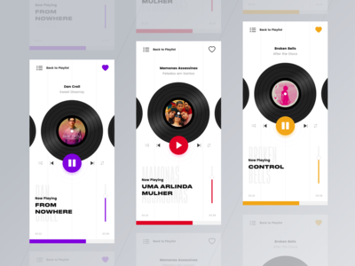 Music Player - Color Variations