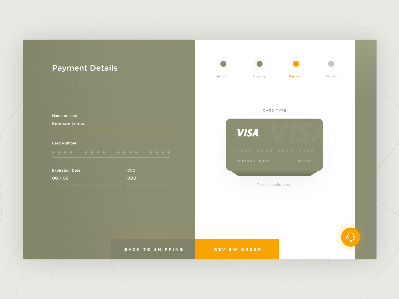 DailyUI #002 Checkout Page web creditcard form checkout landing page ux ui design interface