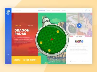 Capsule Corp. E-commerce - Dragon Radar