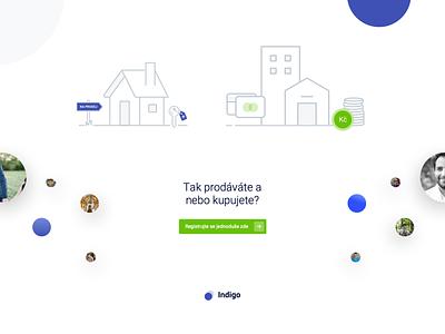 Indigo - Illustrations landing page app website ux ui vector illustration flat design